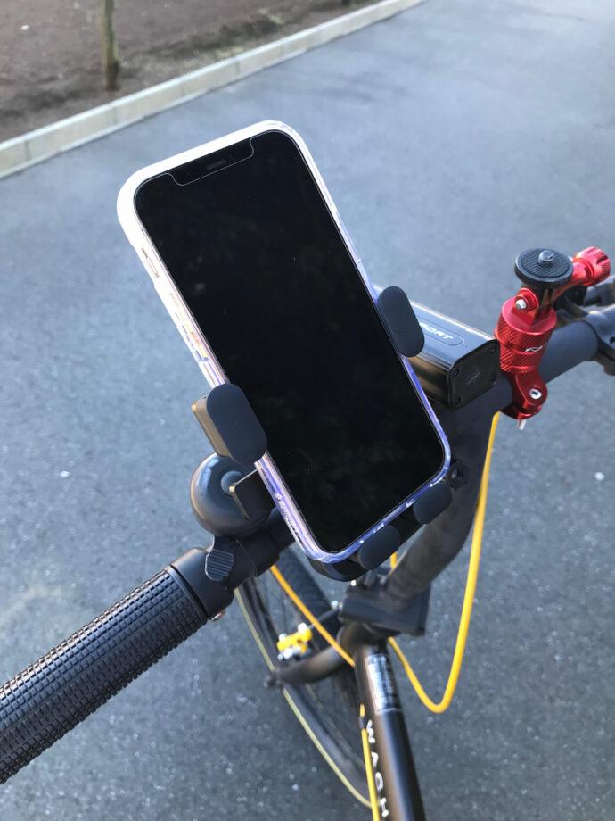 自転車のスマホホルダー